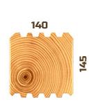 Профилированный брус Гребенка 150х150