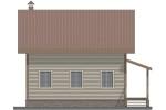 Фасад брусового дома 8х8