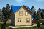 Дом из бруса 7х7 98м2